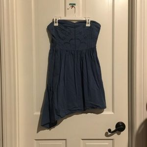 Urban Outfitters Dark Blue Embroidered dress